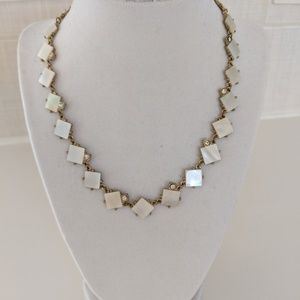 Kate Spade Mother of Pearl & Rhinestone Necklace